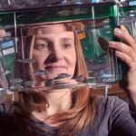 Sandra Rieger PhD with zebrafish